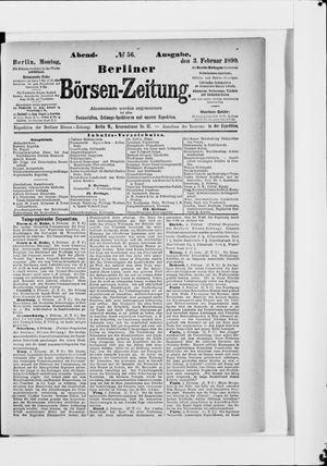 Berliner Börsen-Zeitung vom 03.02.1890