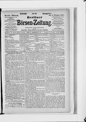 Berliner Börsen-Zeitung vom 05.02.1890