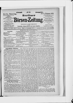 Berliner Börsen-Zeitung vom 06.02.1890