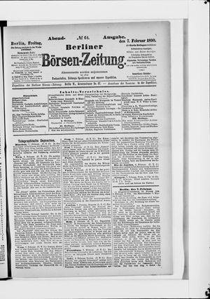 Berliner Börsen-Zeitung vom 07.02.1890