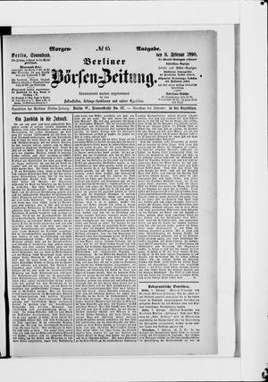 Berliner Börsen-Zeitung vom 08.02.1890