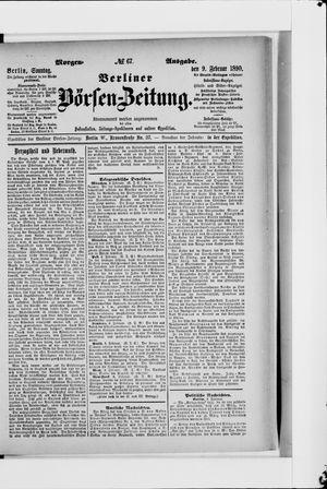 Berliner Börsen-Zeitung vom 09.02.1890
