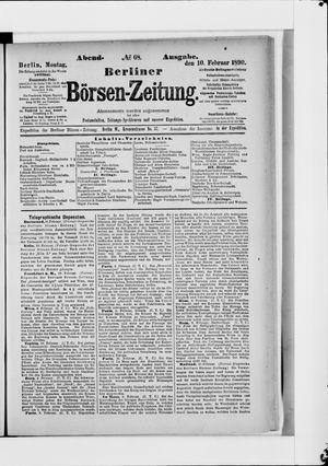 Berliner Börsen-Zeitung vom 10.02.1890