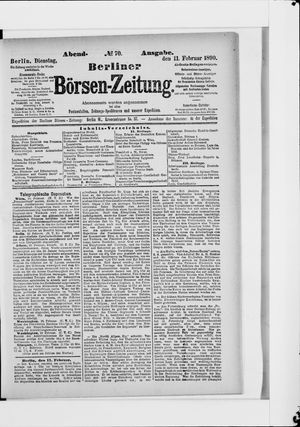Berliner Börsen-Zeitung vom 11.02.1890