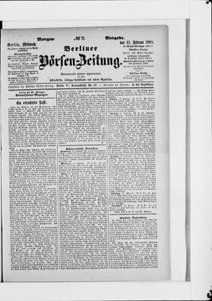Berliner Börsen-Zeitung vom 12.02.1890