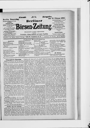 Berliner Börsen-Zeitung vom 13.02.1890