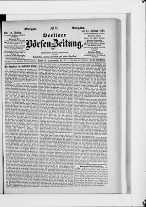 Berliner Börsen-Zeitung vom 14.02.1890