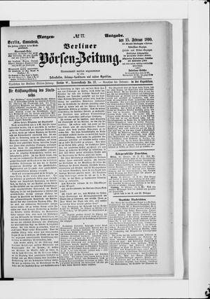 Berliner Börsen-Zeitung vom 15.02.1890