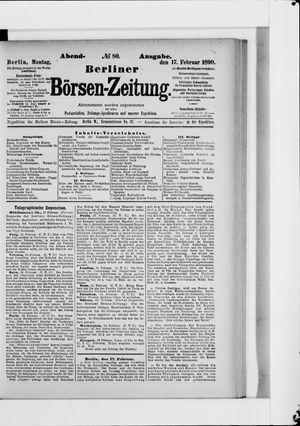 Berliner Börsen-Zeitung vom 17.02.1890