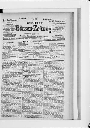 Berliner Börsen-Zeitung vom 18.02.1890