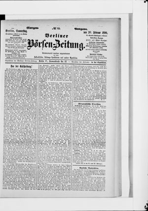 Berliner Börsen-Zeitung vom 20.02.1890