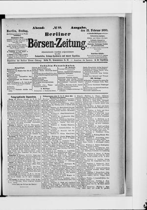 Berliner Börsen-Zeitung vom 21.02.1890