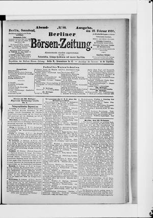 Berliner Börsen-Zeitung vom 22.02.1890