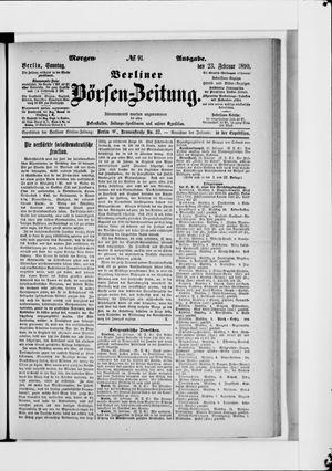Berliner Börsen-Zeitung vom 23.02.1890