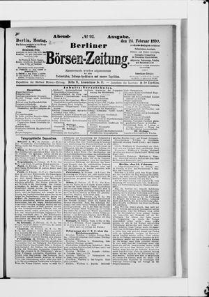Berliner Börsen-Zeitung vom 24.02.1890
