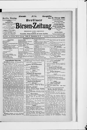 Berliner Börsen-Zeitung vom 25.02.1890