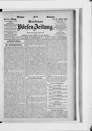 Berliner Börsen-Zeitung vom 26.02.1890