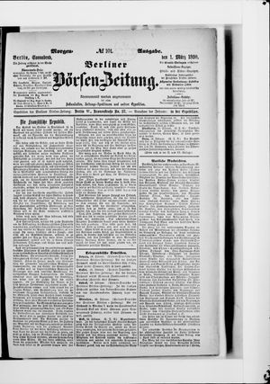 Berliner Börsen-Zeitung vom 01.03.1890