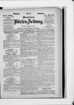 Berliner Börsen-Zeitung vom 02.03.1890
