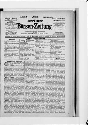 Berliner Börsen-Zeitung vom 03.03.1890