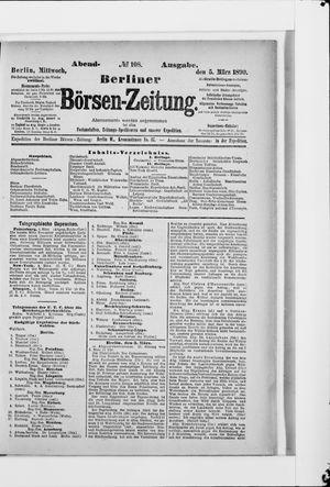 Berliner Börsen-Zeitung vom 05.03.1890