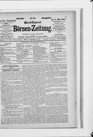 Berliner Börsen-Zeitung vom 08.03.1890