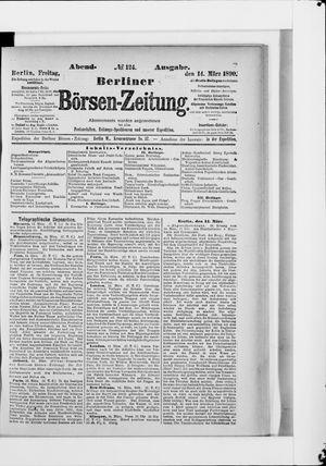 Berliner Börsen-Zeitung vom 14.03.1890