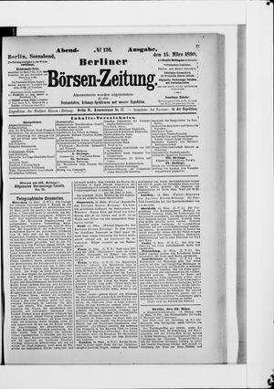Berliner Börsen-Zeitung vom 15.03.1890