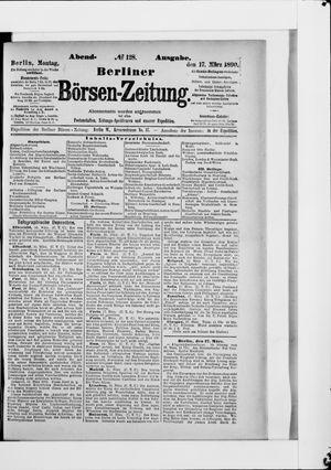 Berliner Börsen-Zeitung vom 17.03.1890