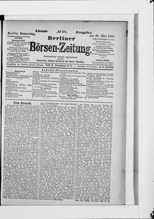 Berliner Börsen-Zeitung vom 20.03.1890