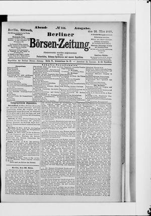 Berliner Börsen-Zeitung vom 26.03.1890