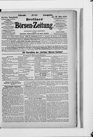 Berliner Börsen-Zeitung on Mar 29, 1890