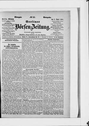 Berliner Börsen-Zeitung vom 02.04.1890
