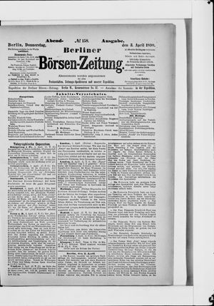 Berliner Börsen-Zeitung vom 03.04.1890