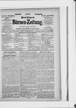 Berliner Börsen-Zeitung vom 12.04.1890
