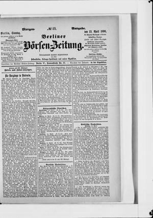 Berliner Börsen-Zeitung vom 13.04.1890