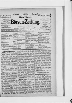 Berliner Börsen-Zeitung on Apr 14, 1890