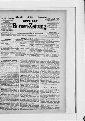 Berliner Börsen-Zeitung vom 16.04.1890
