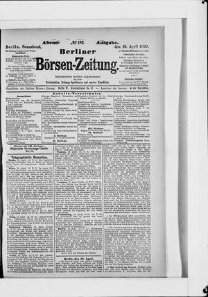 Berliner Börsen-Zeitung vom 19.04.1890