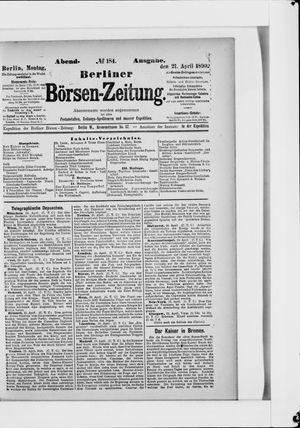 Berliner Börsen-Zeitung vom 21.04.1890