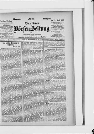Berliner Börsen-Zeitung vom 22.04.1890