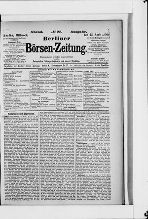 Berliner Börsen-Zeitung vom 23.04.1890