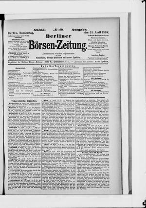Berliner Börsen-Zeitung vom 24.04.1890