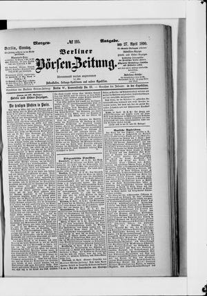 Berliner Börsen-Zeitung vom 27.04.1890