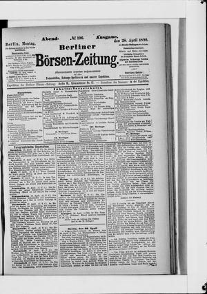 Berliner Börsen-Zeitung vom 28.04.1890