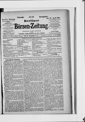Berliner Börsen-Zeitung vom 29.04.1890