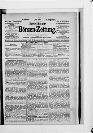 Berliner Börsen-Zeitung vom 01.05.1890