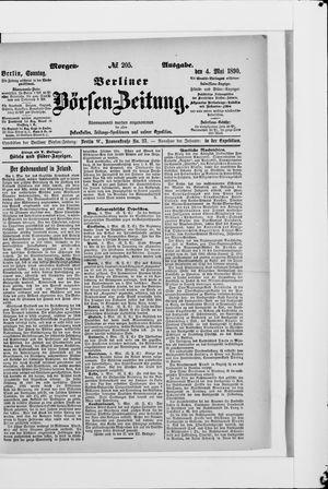 Berliner Börsen-Zeitung vom 04.05.1890