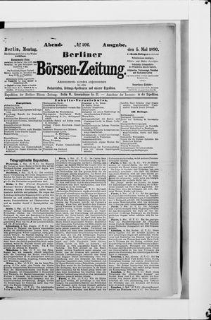 Berliner Börsen-Zeitung vom 05.05.1890