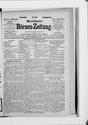 Berliner Börsen-Zeitung vom 07.05.1890